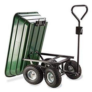 chariot de jardin 4 roues PROBACHE